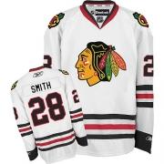 Ben Smith Chicago Blackhawks Reebok Men's Premier Away Jersey - White