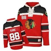 Patrick Kane Chicago Blackhawks Old Time Hockey Youth Authentic Sawyer Hooded Sweatshirt Jersey - Red