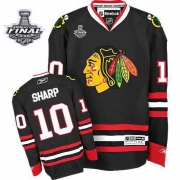 Patrick Sharp Chicago Blackhawks Reebok Men's Authentic Third Stanley Cup Finals Jersey - Black
