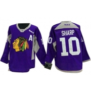 Patrick Sharp Chicago Blackhawks Reebok Men's Authentic Hockey Fights Cancer Jersey - Purple