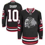 Patrick Sharp Chicago Blackhawks Reebok Men's Authentic Black Skull 2014 Stadium Series Jersey - White