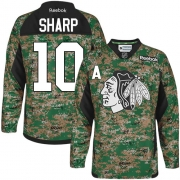 Patrick Sharp Chicago Blackhawks Reebok Youth Authentic Veterans Day Practice Jersey - Camo