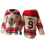 Bobby Hull Chicago Blackhawks Old Time Hockey Men's Authentic Sawyer Hooded Sweatshirt Jersey - Cream