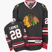 Steve Larmer Chicago Blackhawks Reebok Men's Authentic Third Jersey - Black