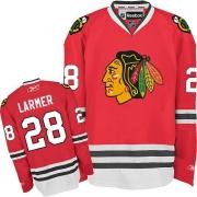 Steve Larmer Chicago Blackhawks Reebok Men's Authentic Home Jersey - Red