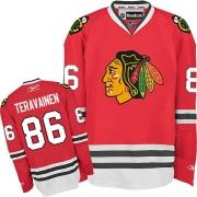 Teuvo Teravainen Chicago Blackhawks Reebok Men's Premier Home Jersey - Red
