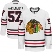 Trevor Van Riemsdyk Chicago Blackhawks Reebok Men's Premier 2015 Winter Classic Jersey - White