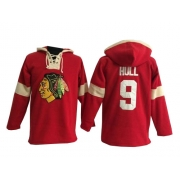 Bobby Hull Chicago Blackhawks Old Time Hockey Men's Authentic Pullover Hoodie Jersey - Red