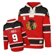 Bobby Hull Chicago Blackhawks Old Time Hockey Men's Authentic Sawyer Hooded Sweatshirt Jersey - Red