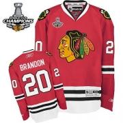 Brandon Saad Chicago Blackhawks Reebok Men's Premier 2013 Stanley Cup Champions Jersey - Red