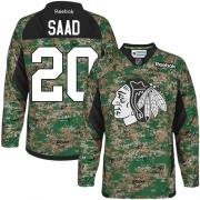 Brandon Saad Chicago Blackhawks Reebok Men's Authentic Veterans Day Practice Jersey - Camo