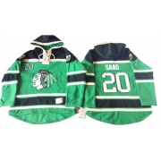Brandon Saad Chicago Blackhawks Old Time Hockey Men's Premier St. Patrick's Day McNary Lace Hoodie Jersey - Green