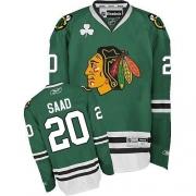 Brandon Saad Chicago Blackhawks Reebok Men's Premier Jersey - Green