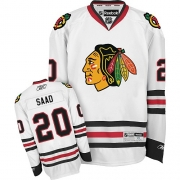 Brandon Saad Chicago Blackhawks Reebok Youth Authentic Away Jersey - White