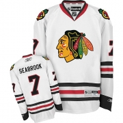 Brent Seabrook Chicago Blackhawks Reebok Youth Authentic Away Jersey - White