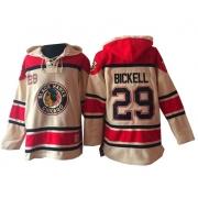 Bryan Bickell Chicago Blackhawks Old Time Hockey Men's Authentic Sawyer Hooded Sweatshirt Jersey - Cream