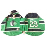 Bryan Bickell Chicago Blackhawks Old Time Hockey Men's Authentic St. Patrick's Day McNary Lace Hoodie Jersey - Green
