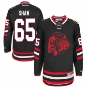 Andrew Shaw Chicago Blackhawks Reebok Men's Authentic Red Skull 2014 Stadium Series Jersey - Black