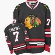 Chris Chelios Chicago Blackhawks Reebok Men's Authentic Third Jersey - Black