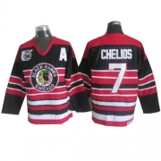 Chris Chelios Chicago Blackhawks CCM Men's Authentic Throwback 75TH Jersey - Red/Black