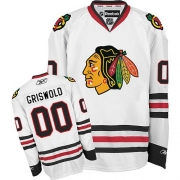 Clark Griswold Chicago Blackhawks Reebok Men's Authentic Away Jersey - White