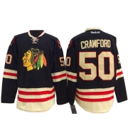 Corey Crawford Chicago Blackhawks Reebok Men's Authentic 2015 Winter Classic Jersey - Black