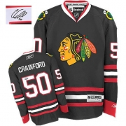 Corey Crawford Chicago Blackhawks Reebok Men's Authentic Autographed Third Jersey - Black