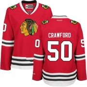 Corey Crawford Chicago Blackhawks Reebok Women's Authentic Home Jersey - Red
