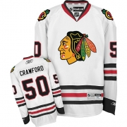 Corey Crawford Chicago Blackhawks Reebok Youth Authentic Away Jersey - White