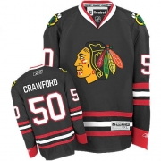 Corey Crawford Chicago Blackhawks Reebok Youth Authentic Third Jersey - Black