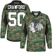 Corey Crawford Chicago Blackhawks Reebok Youth Authentic Veterans Day Practice Jersey - Camo