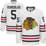 David Rundblad Chicago Blackhawks Reebok Men's Authentic 2015 Winter Classic Jersey - White