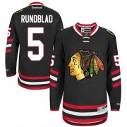 David Rundblad Chicago Blackhawks Reebok Men's Premier 2014 Stadium Series Jersey - Black