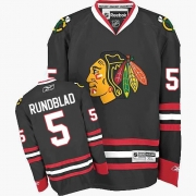 David Rundblad Chicago Blackhawks Reebok Men's Premier Third Jersey - Black