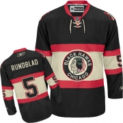 David Rundblad Chicago Blackhawks Reebok Men's Authentic New Third Jersey - Black