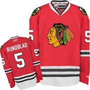 David Rundblad Chicago Blackhawks Reebok Men's Authentic Home Jersey - Red