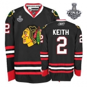 Duncan Keith Chicago Blackhawks Reebok Men's Authentic Third Stanley Cup Finals Jersey - Black