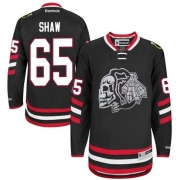 Andrew Shaw Chicago Blackhawks Reebok Men's Authentic Black Skull 2014 Stadium Series Jersey - White