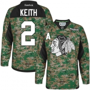 Duncan Keith Chicago Blackhawks Reebok Youth Premier Veterans Day Practice Jersey - Camo