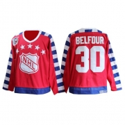 ED Belfour Chicago Blackhawks CCM Men's Authentic All Star Throwback 75TH Jersey - Red