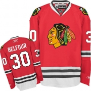 ED Belfour Chicago Blackhawks Reebok Men's Authentic Home Jersey - Red