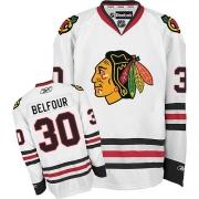 ED Belfour Chicago Blackhawks Reebok Men's Authentic Away Jersey - White