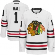 Glenn Hall Chicago Blackhawks Reebok Men's Authentic 2015 Winter Classic Jersey - White