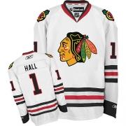 Glenn Hall Chicago Blackhawks Reebok Men's Authentic Away Jersey - White