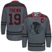 Jonathan Toews Chicago Blackhawks Reebok Men's Authentic Cross Check Fashion Jersey - Storm
