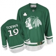 Jonathan Toews Chicago Blackhawks Reebok Youth Authentic St Patty's Day Jersey - Green