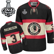 Keith Magnuson Chicago Blackhawks Reebok Men's Premier New Third Stanley Cup Finals Jersey - Black