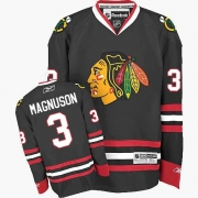 Keith Magnuson Chicago Blackhawks Reebok Men's Authentic Third Jersey - Black