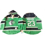 Kris Versteeg Chicago Blackhawks Old Time Hockey Men's Premier St. Patrick's Day McNary Lace Hoodie Jersey - Green