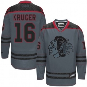 Marcus Kruger Chicago Blackhawks Reebok Men's Authentic Cross Check Fashion Jersey - Storm